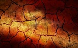 La terre sèche et criquée Images stock