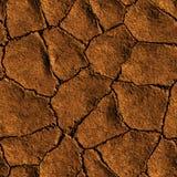 La terre sans couture de texture fendue en raison de la sécheresse Photo stock