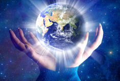 La terre spirituelle Image libre de droits