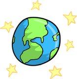 la terre stars le vecteur Photos libres de droits