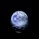 La terre a submergé illustration de vecteur