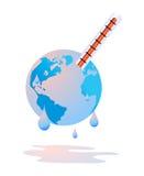 La terre sue par le réchauffement global Photo stock