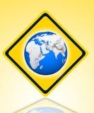 La terre sur la route Images libres de droits