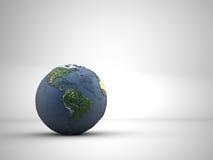 La terre sur le blanc Photos libres de droits
