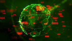 La terre tournante brillante avec piloter les éléments numériques illustration libre de droits