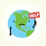 La terre triste de planète Images stock