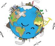 La terre triste de planète illustration libre de droits