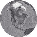 La terre Uzumaki de guilloche Image libre de droits