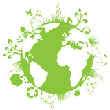 La terre verte Image libre de droits