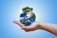 La terre verte d'Eco Images libres de droits