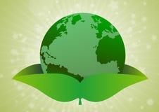 La terre verte de concept d'environnement Images stock