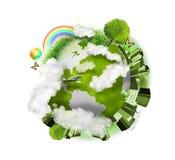 La terre verte de globe de nature Images libres de droits