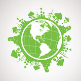 La terre verte de planète d'énergie Photos libres de droits