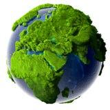 La terre verte de planète Photographie stock libre de droits