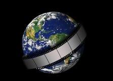La terre verte et film Photographie stock