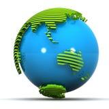 La terre verte Japon/Australie illustration libre de droits