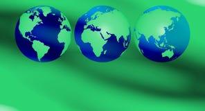 La terre verte réutilisant le fond Photographie stock libre de droits