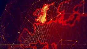 La terre virtuelle détaillée de planète illustration libre de droits