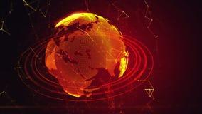 La terre virtuelle détaillée de planète illustration stock