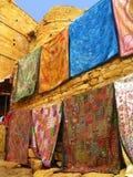La tessile handcrafts in Jaisalmer, India fotografia stock
