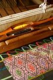 La tessitura è l'arte di piega della Tailandia Fotografie Stock Libere da Diritti