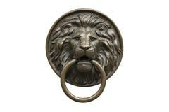 La testa bronzea di un leone Fotografia Stock