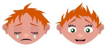 La testa del fumetto grida e ride illustrazione di stock