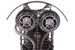 La testa del robot nello steampunk di stile Fotografie Stock Libere da Diritti