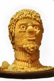 La testa dell'uomo è fatta di pasta. Fotografie Stock