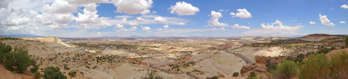 La testa delle rocce trascura (panorama) Fotografie Stock Libere da Diritti