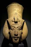 La testa di Akhenaton ad Alexandria Museum nell'Egitto fotografie stock