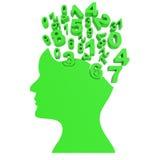 La testa di numeri significa Person Numeric And University Immagine Stock Libera da Diritti