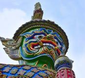 La testa di Thotsakan, kaew di phra del wat, Bangkok, Tailandia Fotografia Stock