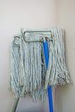 La testa di una maniglia di zazzera (fuoco selettivo) afferra il grumo sporco dello sfregamento Immagine Stock Libera da Diritti