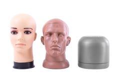 La testa fittizia isolata su un fondo bianco Immagine Stock Libera da Diritti
