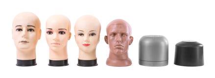 La testa fittizia isolata su un fondo bianco Immagini Stock Libere da Diritti