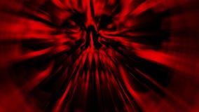 La testa rossa del mostro con un fronte lacerato illustrazione di stock