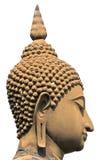 La testa tailandese del buddha ha isolato Fotografia Stock