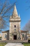 La Teste, Arcachon-Bucht, Frankreich Heilig-Vincent-Kirche, 14. Jahrhundert stockfotografie