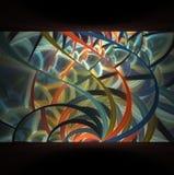 La textura abstracta elegante moderna del fractal es una imagen generada por ordenador Imagen de archivo libre de regalías