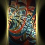 La textura abstracta elegante moderna del fractal es una imagen generada por ordenador Foto de archivo libre de regalías