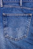 La textura azul del bolsillo de la mezclilla del dril de algodón es el añil clásico fotografía de archivo libre de regalías