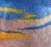 La textura coloreó la tela felted de las lanas y de la viscosa de la oveja teñida Fotos de archivo libres de regalías