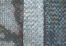 La textura de acero platea las soldaduras del piso juntas fotografía de archivo
