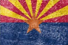 La textura de la bandera de Arizona Fotos de archivo
