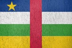 La textura de la bandera de la República Centroafricana Imágenes de archivo libres de regalías