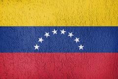 La textura de la bandera de Venezuela Imágenes de archivo libres de regalías