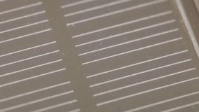 La textura de la batería solar metrajes