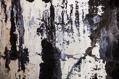 La textura de la pared con yeso y la lechada de cal agrietados Foto de archivo libre de regalías