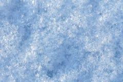La textura de la superficie de la nieve Imagen de archivo libre de regalías